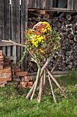 Dekoidee mit Chrysanthemen