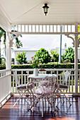 Nostalgic patio furniture on a Queenslander porch