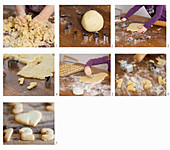 Instructions for baking festive biscuits shaped like digits 1-4