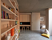 Wooden fitted furnishings in child's bedroom