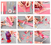 Instructions for crafting a garland from coloured paper and washi tape
