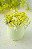 Posy of oilseed rape flowers and elderflowers