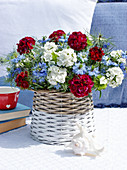Bouquet in red, white and blue