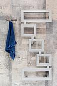 Modern, designer heated towel rail