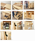 Instructions for building a workshop trolley (stowing devices)