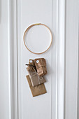 DIY Advent calendar hung on white door
