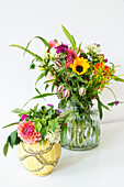 Two summery bouquets