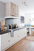 Modern country kitchen with dining area