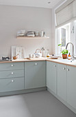 Bright kitchen corner