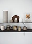 Kitchen shelf with crockery