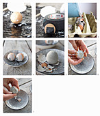 Instructions for making concrete Easter eggs