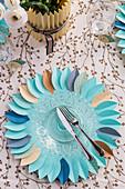 DIY-Tischset aus Papier