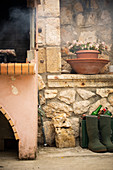 Traditional brick oven outdoors