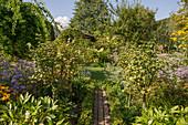 Farmhouse garden in late summer
