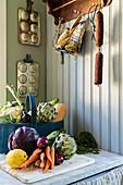 Fresh vegetables in a kitchen