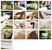 Instructions for building a raised bed from pallets
