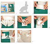 Instructions for making paper bunny garland