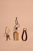DIY leather key chains
