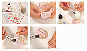 Instructions for decorating an Easter egg using decoupage technique