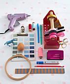 Various craft materials