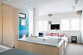 Modern bedroom with ensuite bathroom