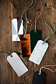 Various gift tags