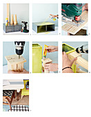 Anleitung für einen selbstgebauten Beistelltisch mit Schubladen