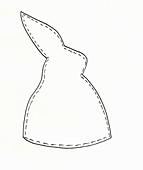 Vorlage für Eierwärmer in Hasenform
