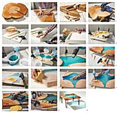 Anleitung für einen Couchtisch aus Holz und Kunstharz mit Hairpin-Legs