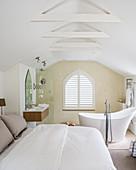 Elegant attic bedroom with ensuite bathroom