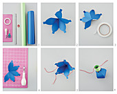 Instructions for making garland of paper lanterns