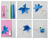 Papier-Laternenkette selber basteln