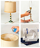 Renovating an old table lamp