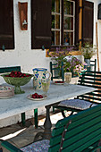 Garden table and chairs on terrace