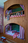 Wooden cubby bunk beds