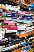 Horizontally stacked books