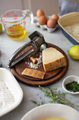 Ingredients for recipes with parmesan cheese