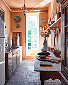 Simple, rustic farmhouse kitchen