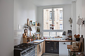 Bright kitchen with large window