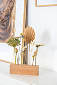 Handmade stand for dried flowers