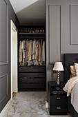 Glance into walk-in closet