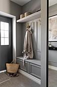 Custom cloakroom in foyer