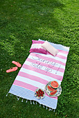 DIY embroidered picnic blanket