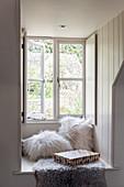 Window with deep window seat