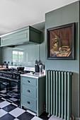 A 1930s Art Deco-style kitchen