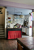 Vintage-style kitchen made of different elements