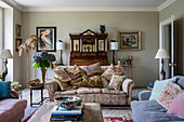 Classical living room in English style