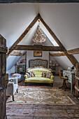 Nostalgic living room under the roof