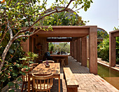 Casa Volta with swimming pool and roofed terrace