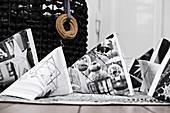 Geschenktütchen mit schwarz-weißem Fotodruck